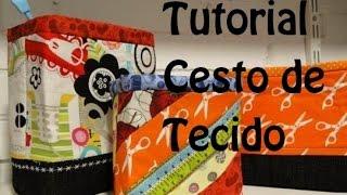 PASSO A PASSO DE CESTA DE TECIDO EM PATCHWORK