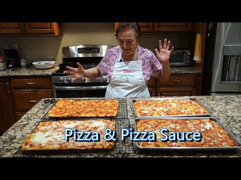 Italian Grandma Makes Pizza and Pizza Sauce