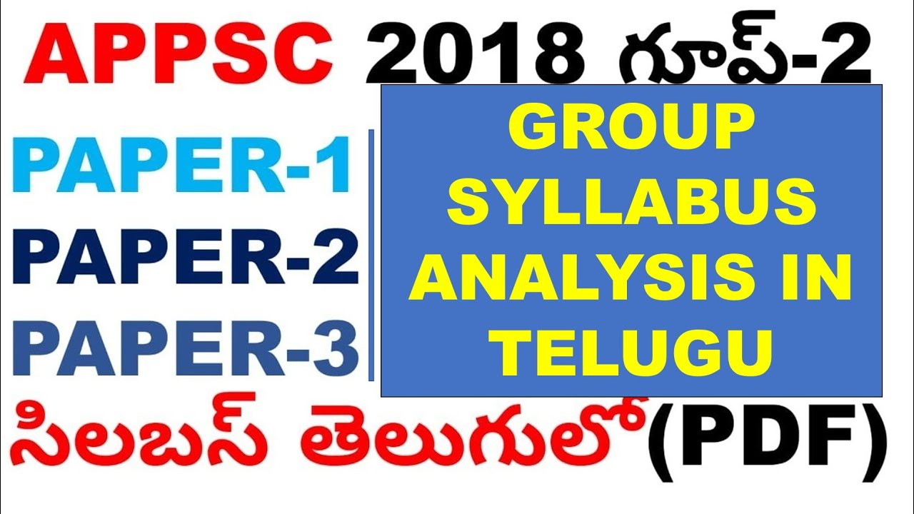 Telangana Group 2 Syllabus 2015 Pdf