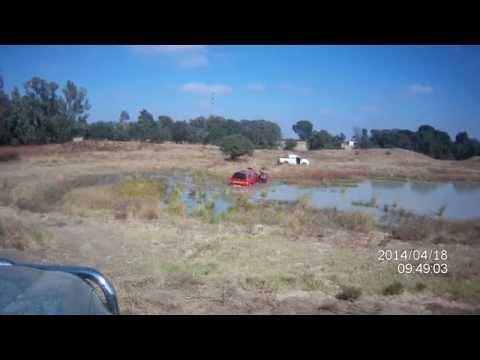 Ranger T6 vs Hilux vs Navara at the dam