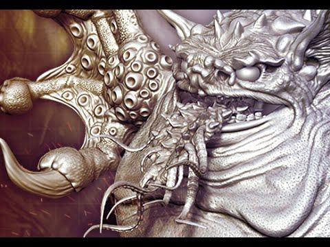 Monster Sculpts in Zbrush  Tsathoggua  Pt 1  3dm Promo