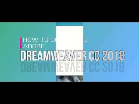 How To Download Dreamweaver CC 2018
