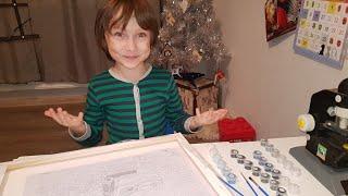 Ребенок в восторге !!! Картина по номерам | Распаковка и обзор ☺