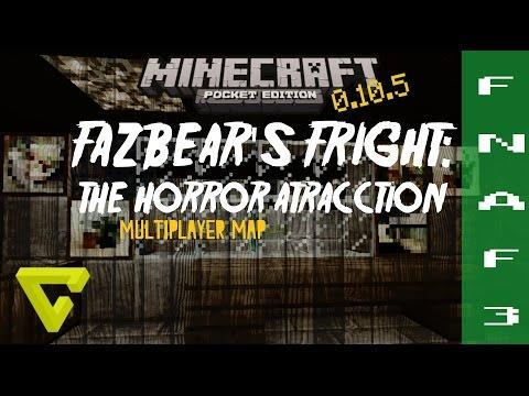 FIVE NIGHTS AT FREDDY'S 3 MAPA/MAP [MINECRAFT PE 0.10.5] FAZBEAR'S FRIGHT