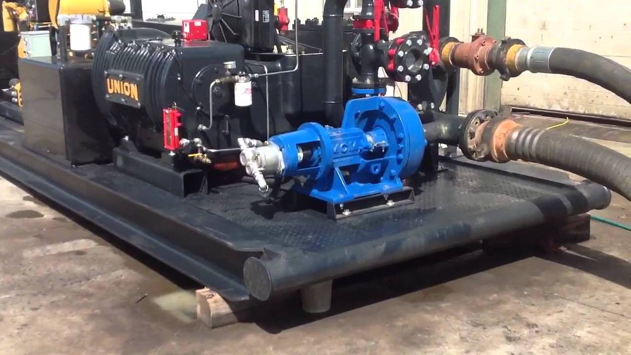 Union Tx 200 Triplex Plunger Pump Package Stock 56437