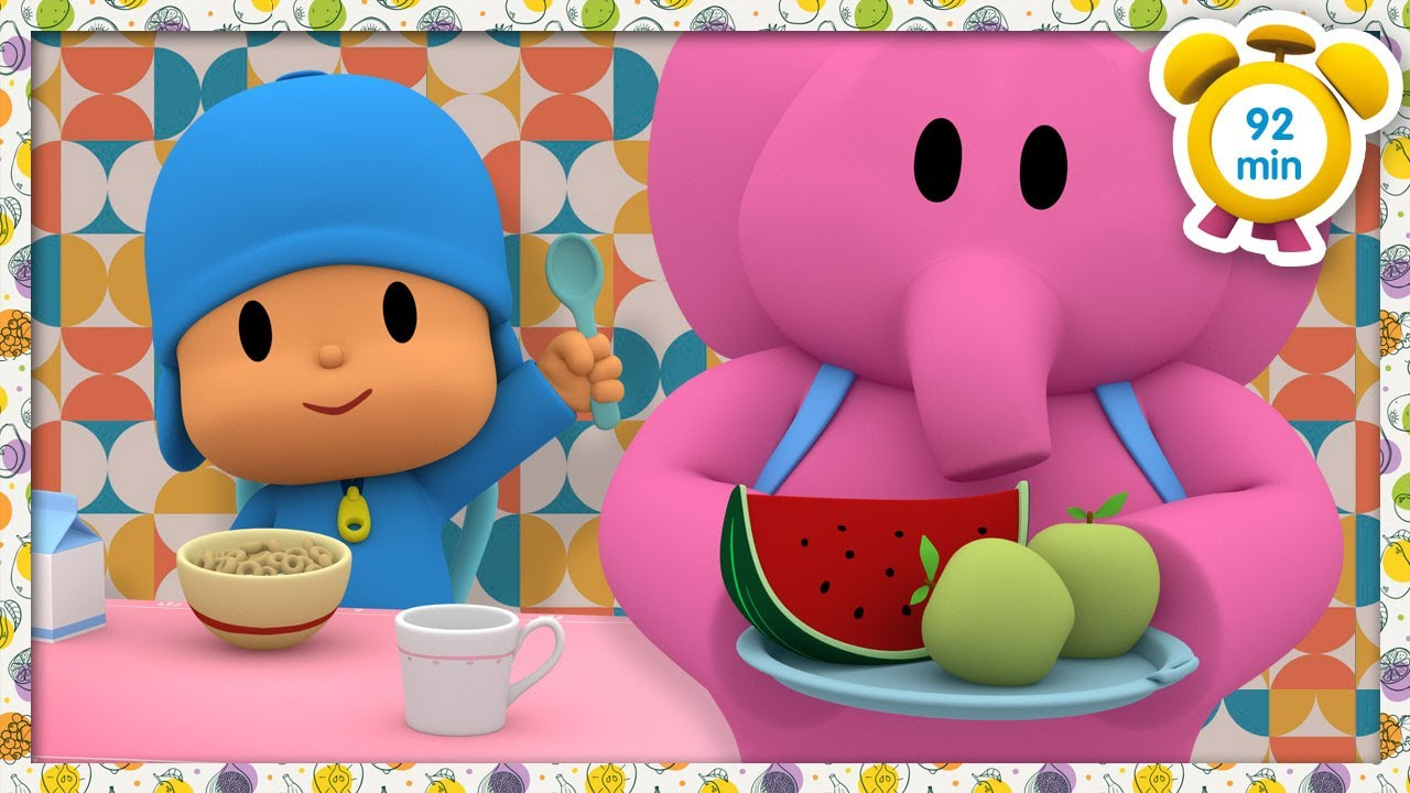 🥑 POCOYO in ENGLISH - Healthy Eating [ 92 minutes ] | Full Episodes | VIDEOS and CARTOONS for KIDS