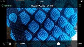 Tutorial paling gang pool membuat tas tali kur motif daun timbul