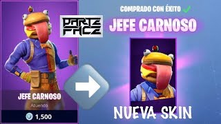 "New skin ""HAMBURGUESA"" Boss Fleshy/Durr Burger - Fortnite Battle Royale"