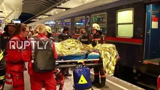 Austria: Up to 50 injured after trains collide in Salzburg central
