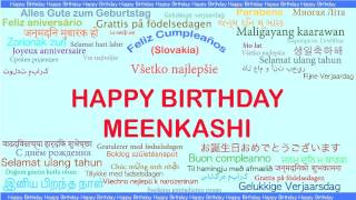 Meenkashi   Languages Idiomas - Happy Birthday