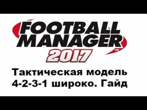 Football manager 2017.  Расстановка 4-2-3-1(широко) с инсайдами [Гайд]