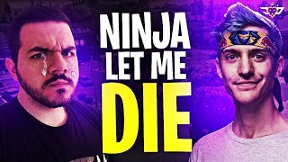 NINJA LET ME DIE! THE ULTIMATE BETRAYAL! (Fortnite: Battle Royale)
