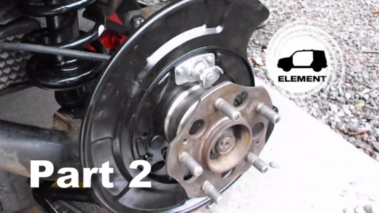 Honda Element Rear Wheel Bearing Replacement (how I did it...)PART 2 - YouTube