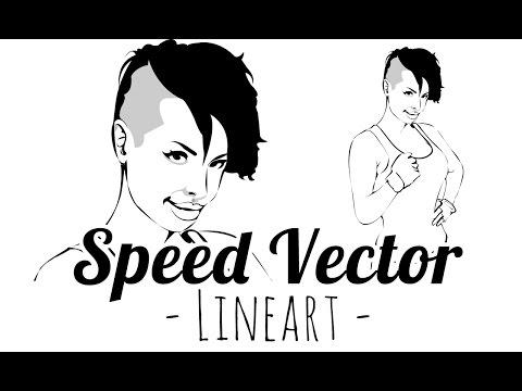 Vector Speedpainting - Lineart - Christy Mack