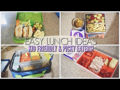 5 EASY KID FRIENDLY LUNCH IDEAS FOR PICKY EATERS II WHATS FOR LUNCH!