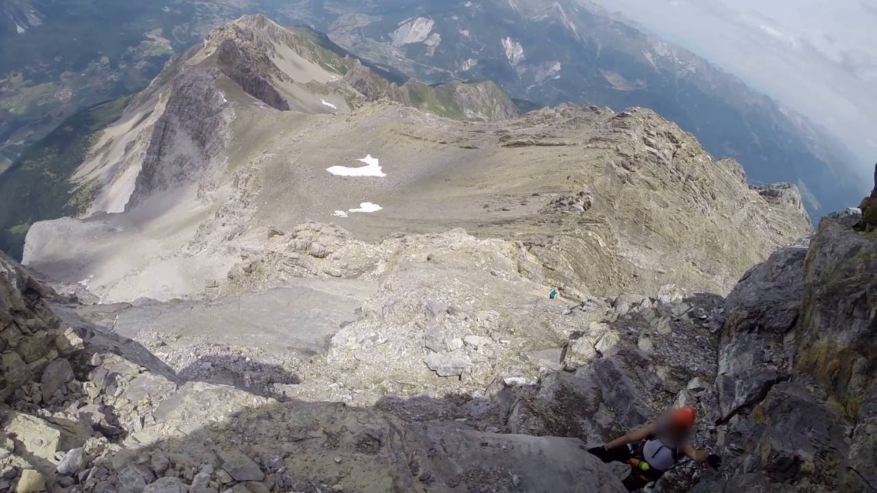 Klettersteig Piz Mitgel : Klettersteig via ferrata piz mitgel savognin senda finala youtube