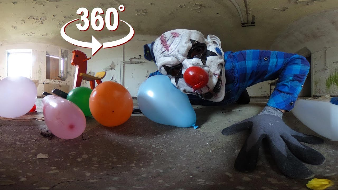 360 video horror clowns