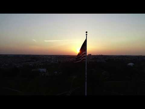 Patterson Park Pagoda Sunrise Drone Flight
