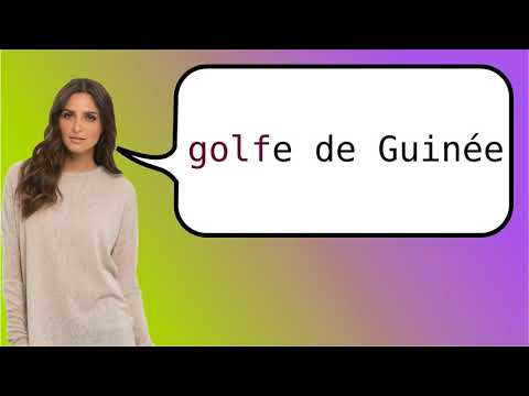 How to say 'Gulf of Guinea' in French?