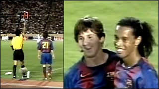 The Day Messi Ronaldinho Played Together For The First Time Very Rare Footage MP3