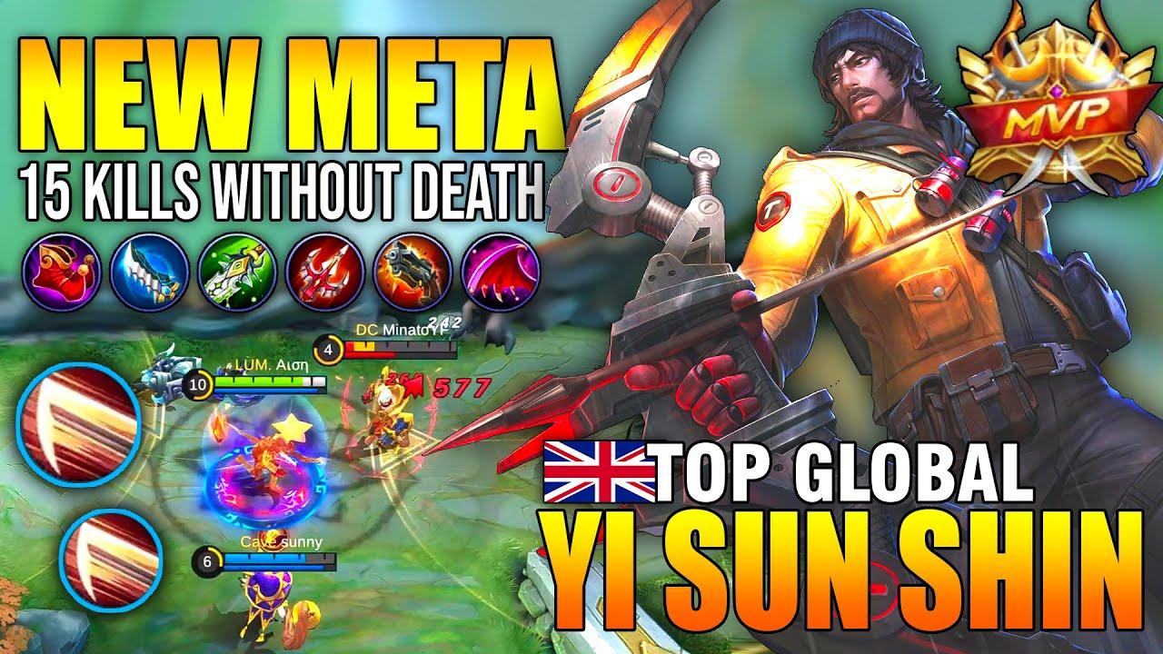 94,8% WINRATE UNKILLABLE YI SUN SHIN COMBO SKILL - TOP GLOBAL YI SUN SHIN Aιση - MOBILE LEGENDS