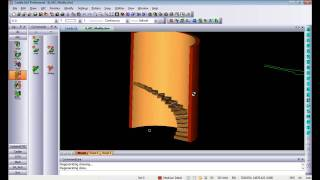 Aec 3d Spiral Stairs And Railings In Caddie .dwg Architecture Compatible Cad Software