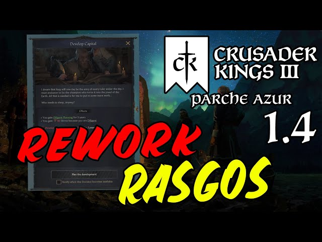 "REWORKS A ALGUNOS RASGOS - Crusader Kings 3 1.4 ""Parche Azur"""