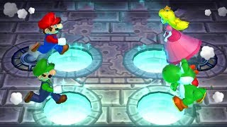 Mario Party 9 - Minigames - Mario vs Luigi vs Yoshi vs Peach