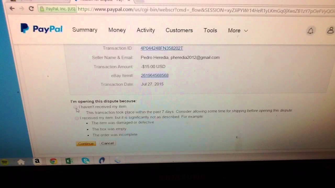 How to Open up a Dispute / Claim in PayPal
