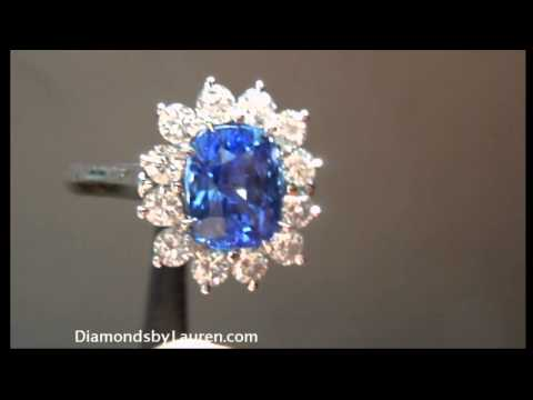 3.03ct Rich Blue Sapphire Ring