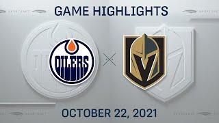 NHL Highlights   Oilers vs. Golden Knights - Oct. 22, 2021