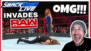 WWE SMACKDOWN LIVE WOMEN INVADE RAW REACTION!!! WWE RAW 11/12/18
