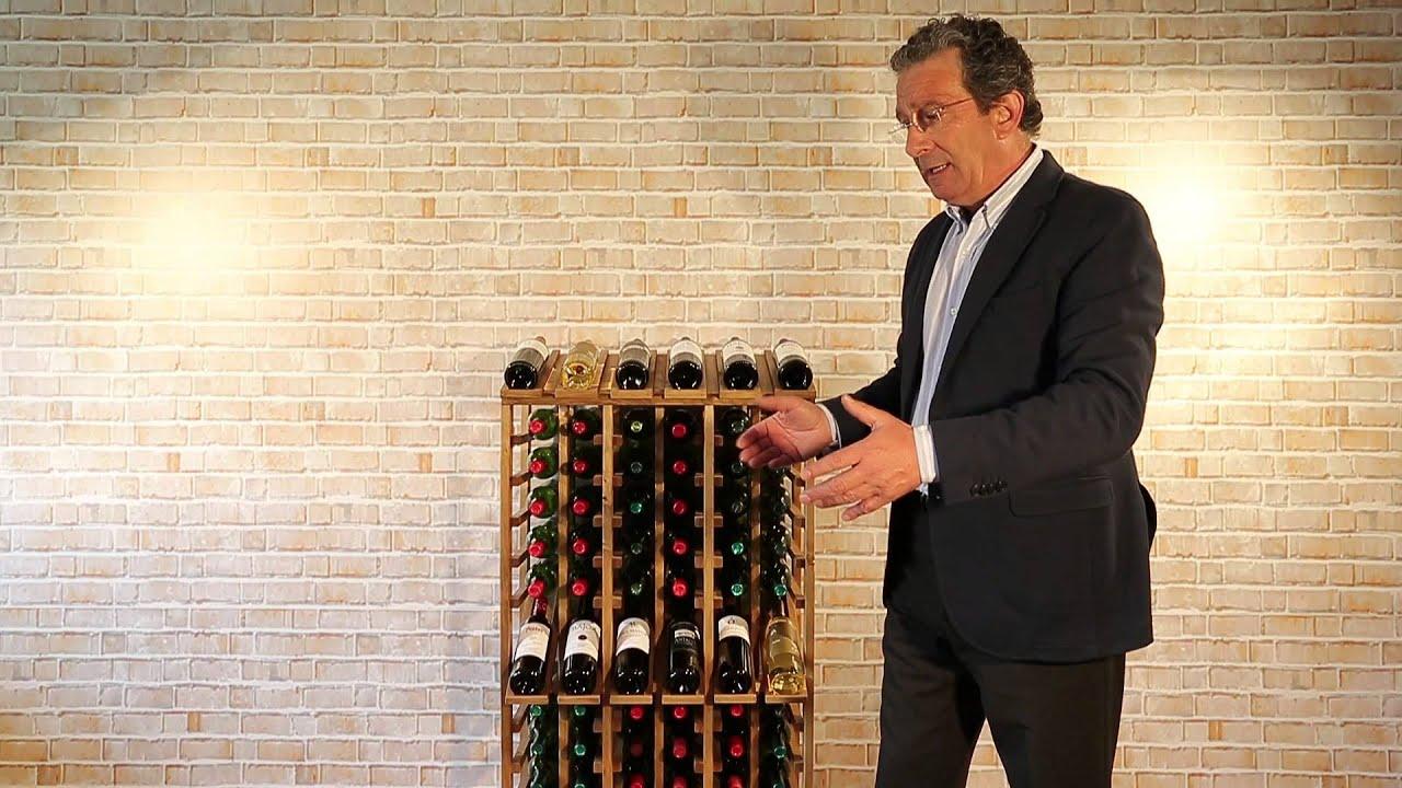 Botellero godello vilamartin capacidad para 72 botellas - Botellero de pared ...