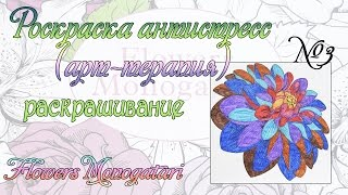 Раскраска из серии Таинственный сад .Видео 3 /Антистресс/Арт-терапия
