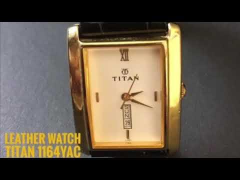 Titan Leather Men's Watch Model No. TITAN 1164YAC