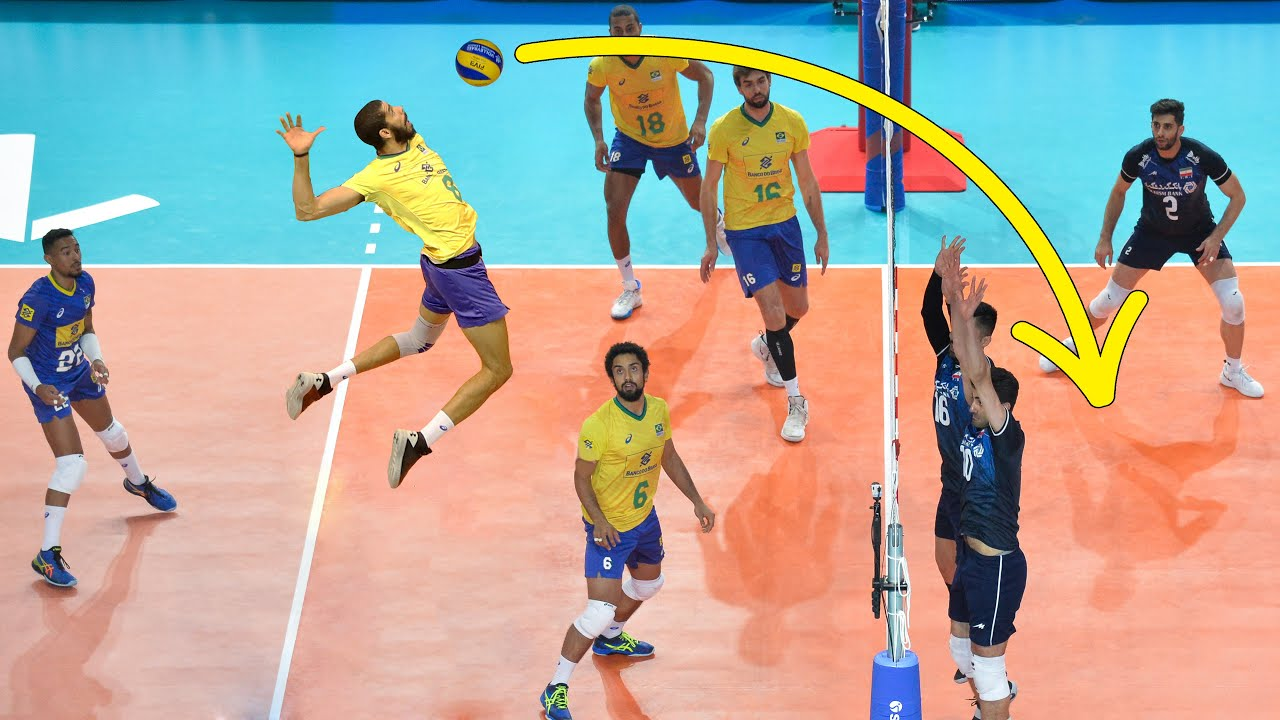 The Most Powerful Volleyball Spikes by Wallace De Souza | Spike: 365cm (HD)