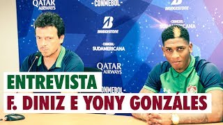 FluTV - Coletiva - Fernando Diniz e  Yony Gonzáles - Antofagasta 1 x 2 Fluminense
