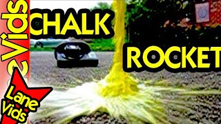 SCIENCE EXPERIMENTS FOR KIDS: HOW TO MAKE A HOMEMADE ROCKET   HOW TO MAKE ROCKET   CHALK ROCKETS