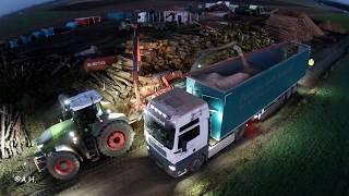 Fendt 1050 Vario mit Mus Max Wood Terminator 10 XL beim Holz Hacken 2019 // Forsttechnik Scheller