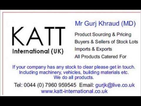 SURPLUS STOCK, EXCESS INVENTORY, KATT INTERNATIONAL, PRODUCT