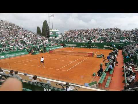 Simon serving for the match against Djokovic - Montecarlo 2017 HD