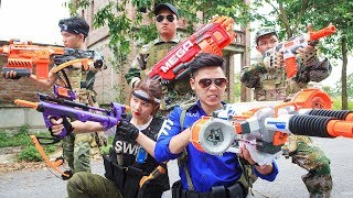 LTT Nerf War : Special police SEAL X Warriors Nerf Guns Fight Attack Criminal Group Captain