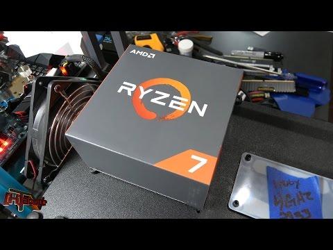 AMD Ryzen 7 1700 Retail Purchased CPU Overclocking X 2