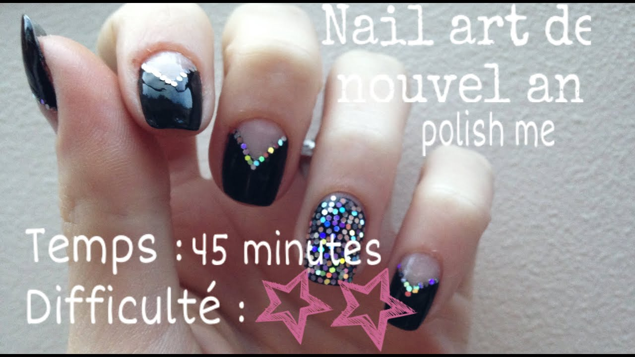 Nail art pour nouvel an youtube - Nail art nouvel an ...