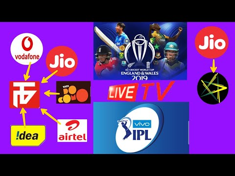 How to watch icc world Cup live  vivo IPL live in all sim   part 1