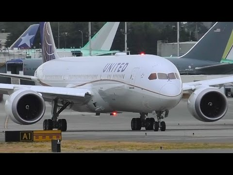 United Airlines 787-9 Dreamliner [N45956] Takeoff and Landing at Paine Field ᴴᴰ