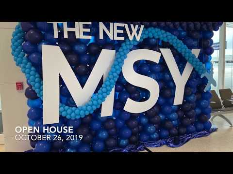 NEW TERMINAL AT NEW ORLEANS AIRPORT MSY OPEN HOUSE - OCTOBER 26, 2019
