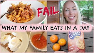 WHAT MY FAMILY EATS IN A DAY * FAIL * REAL LIFE  |  EMILY NORRIS