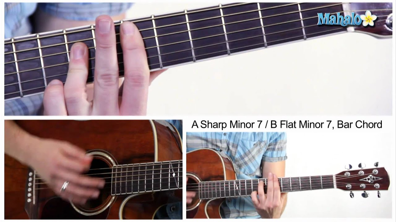 How To Play An A Sharp Minor 7 B Flat Minor 7 Am7 Bbm7 Bar
