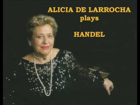 Alicia de Larrocha plays Handel - Suite No.5, HMV 430